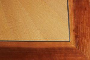 Marqueterie en merisier realisée par Giuseppe Maranto ébéniste menuisier à Strasbourg