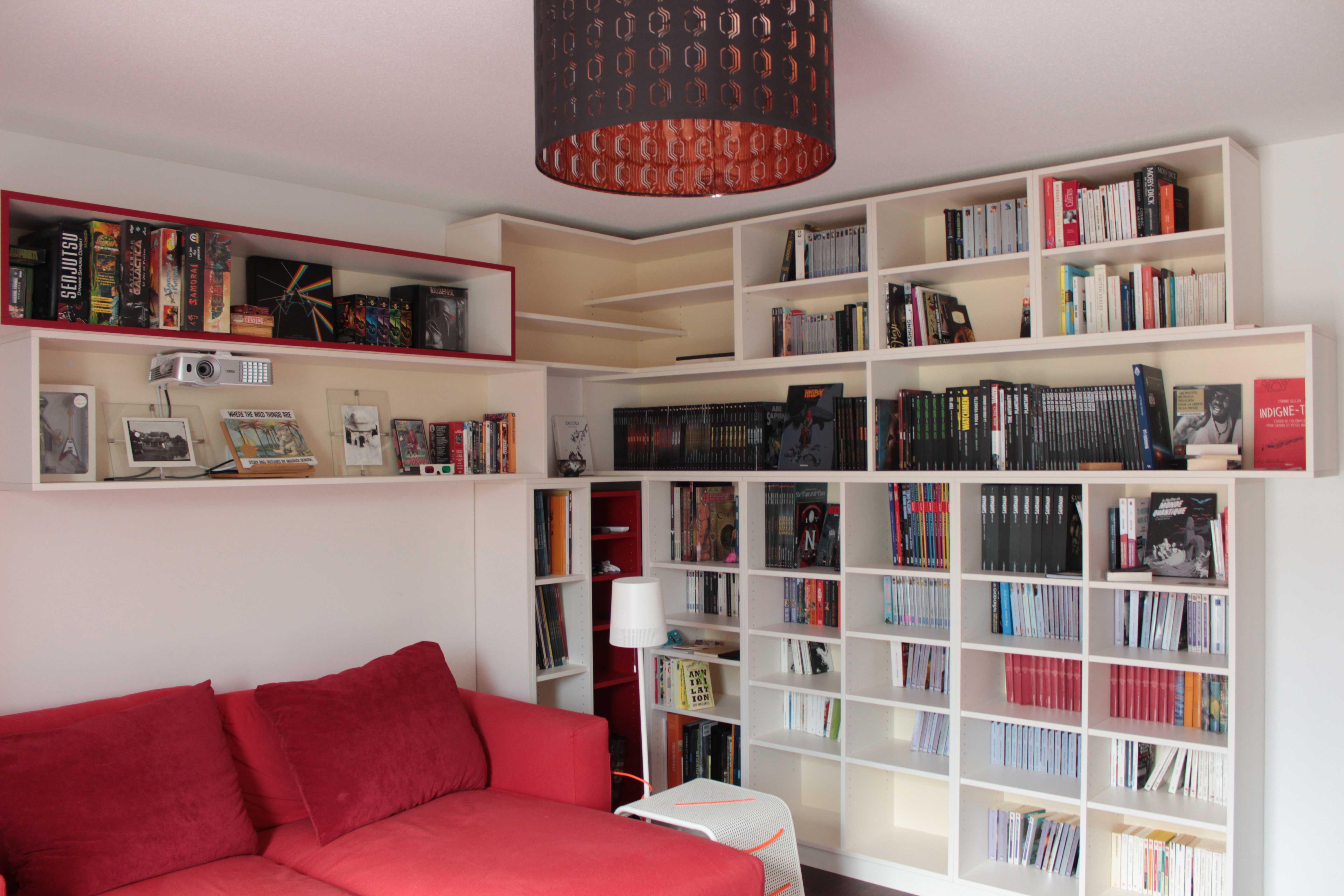 Bibliothèque home cinéma