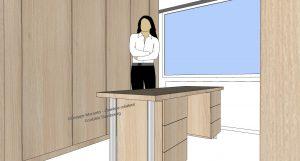 modélisation 3D d'un bureau